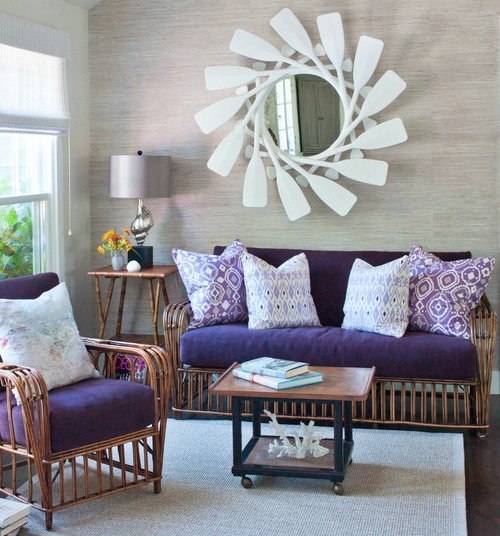 Purple Living Room Decor Inspired by the Coast Shop the Look - purple living room decor
