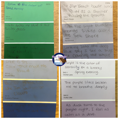 My middle school students loved writing paint chip poetry as an after testing activity!  #teaching #ideas