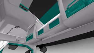 White-Turquoise Interior for Volvo 2012