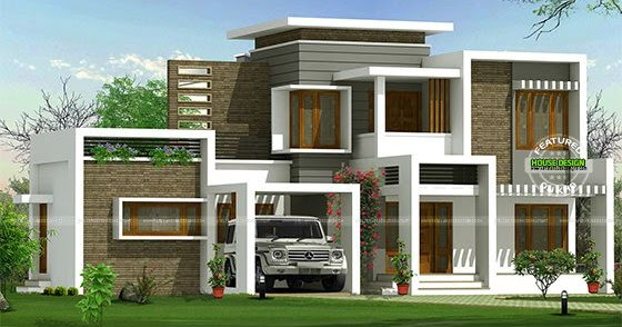 Beautiful box type contemporary home kerala home design for Floor types for homes