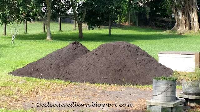 Eclectic Red Barn: One ton of dirt delivered