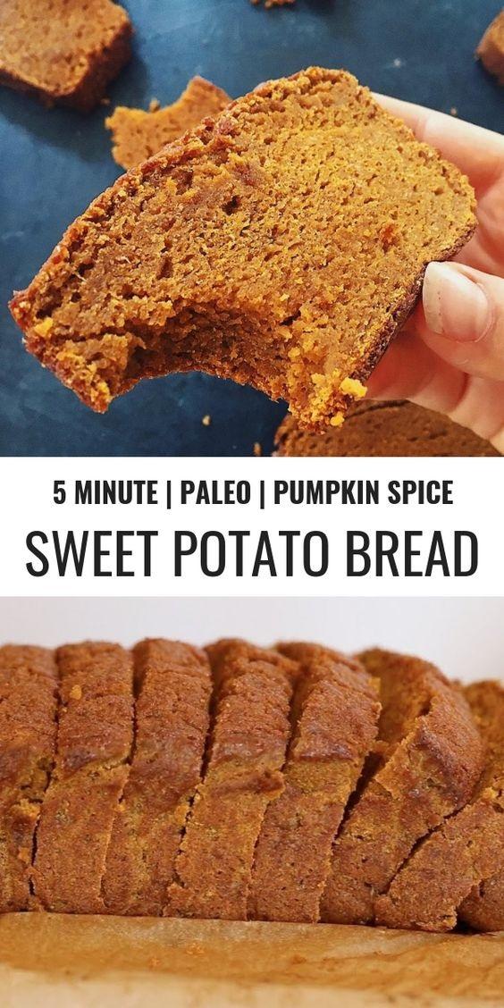 Sweet Potato Pumpkin Spice Paleo Bread