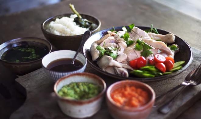 Riz au poulet hainanais traditionnel