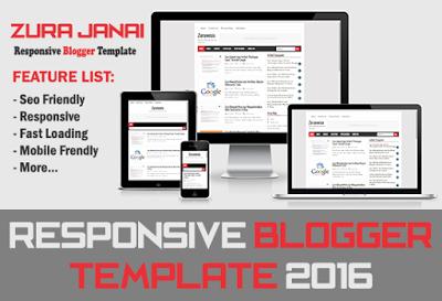 Zura Janai Responsive Blogger Template