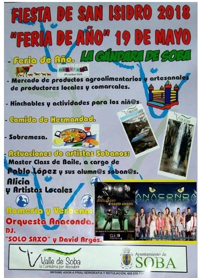 Fiestas de San Isidro  en Gándara de Soba 2018:  Feria del Año
