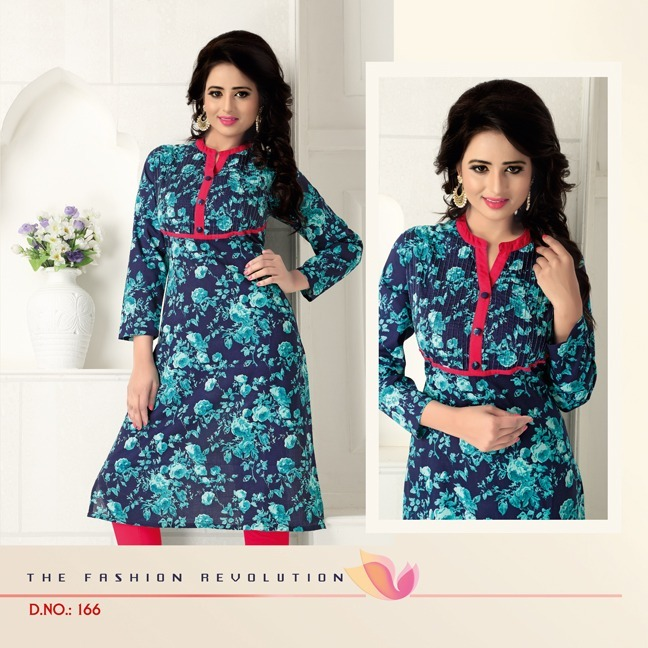 Charvi – New Cotton Casual Kurti Manufacturer