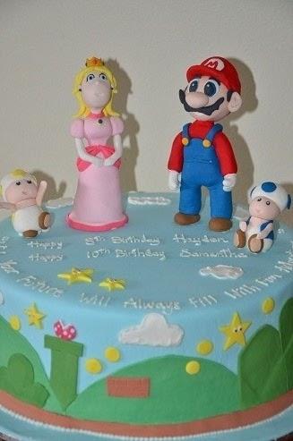 Margs Kitchen Mario And Princess Peach Birthday Cake