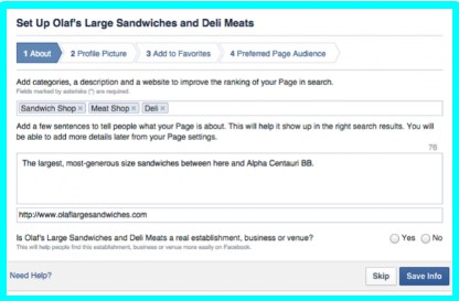 how to create a business facebook page for free