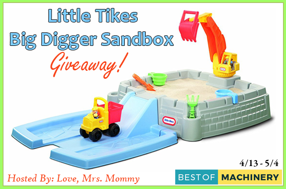 Little Tikes Big Digger Sandbox Giveaway – Ends 5/4/18