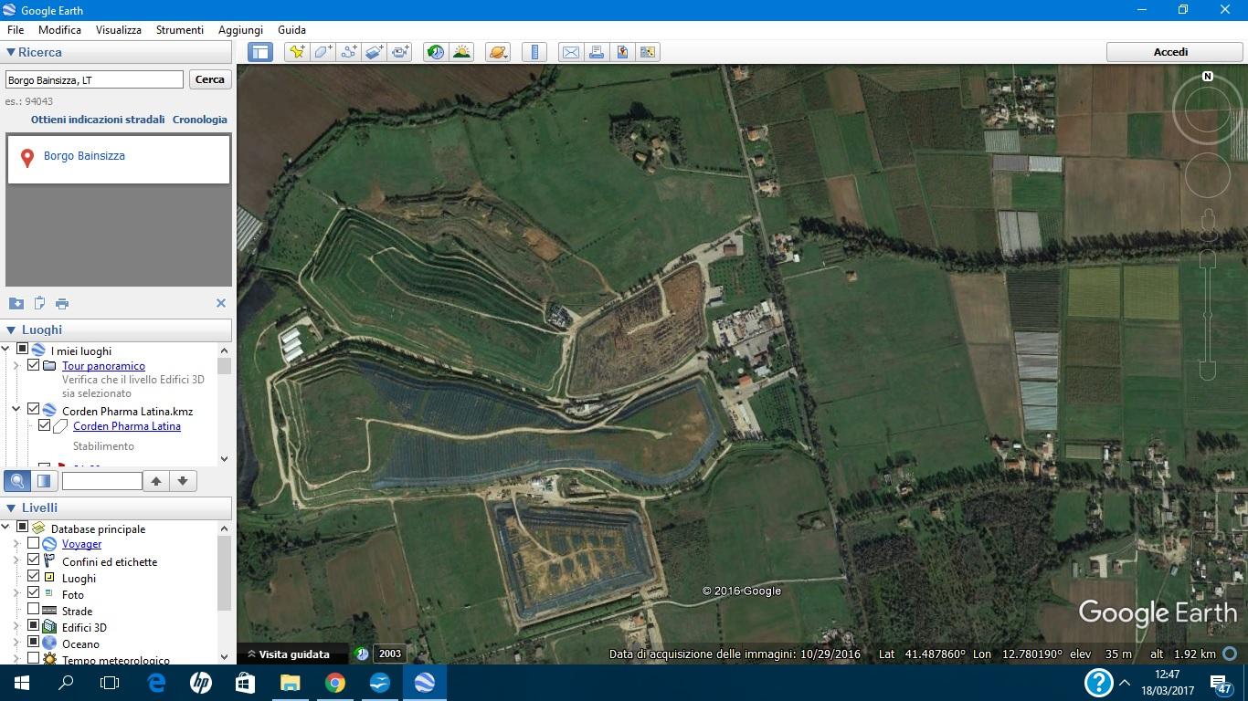 Pontinia ecologia e territorio discarica di borgo for Google planimetria
