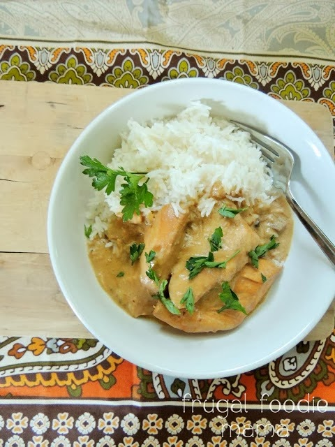 Creamy Crock Pot Chicken Marsala- This creamy slow cooker version of Chicken Marsala has all the flavor of the traditional dish minus a lot of the work