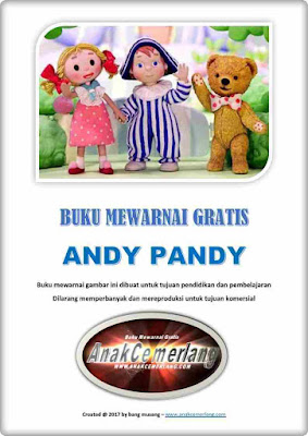 Buku Mewarnai Gratis Andy Pandy