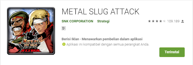 Game Strategi Android Terbaik Metal Slug Attack