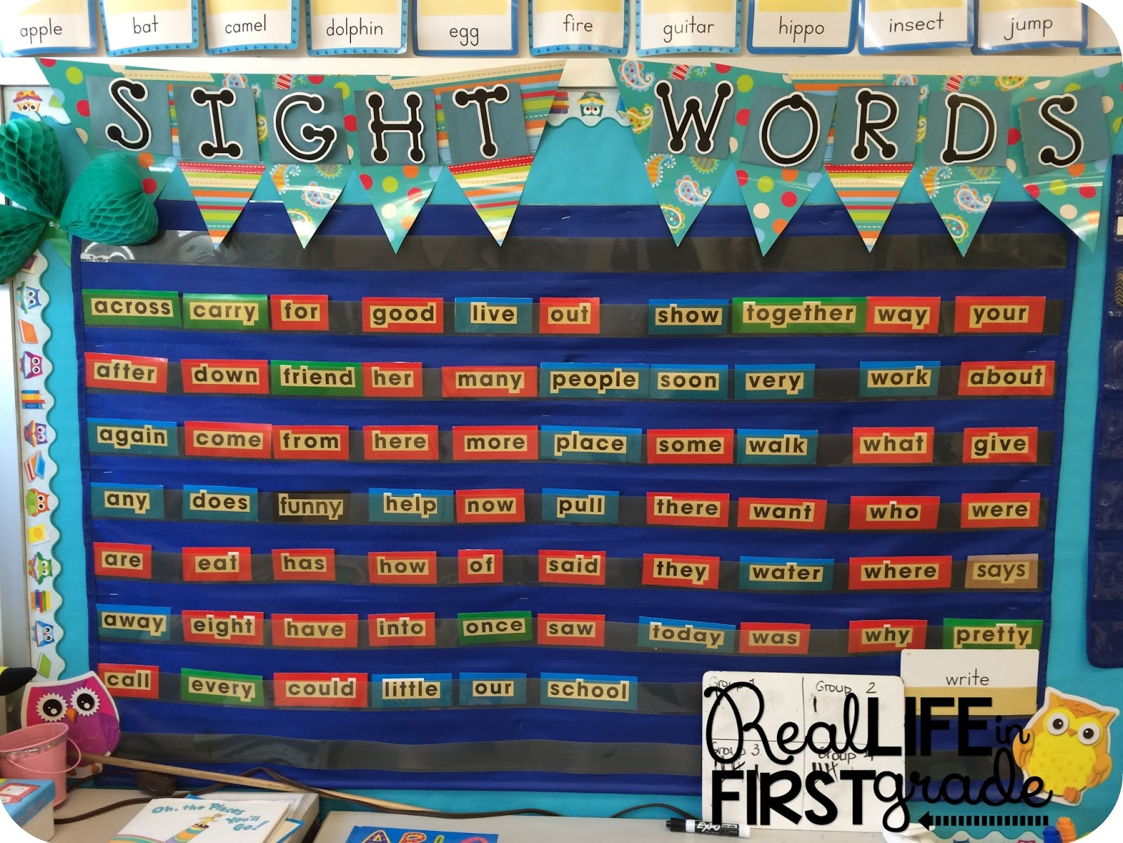 Real Life In First Grade My Word Wall Doesn T Look Like