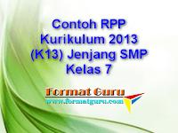 Contoh RPP Kurikulum 2013 (K13) Jenjang SMP Kelas 7