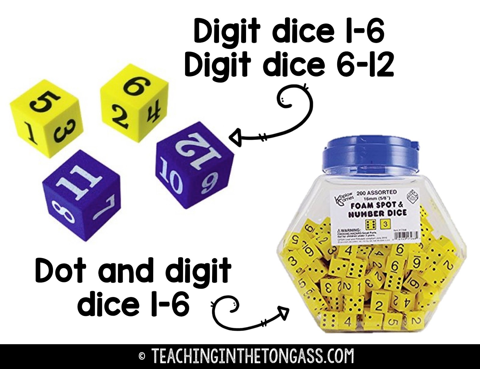 math fact fluency using dice