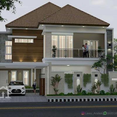 baru 22+ desain rumah 2 lantai sederhana dan biaya murah