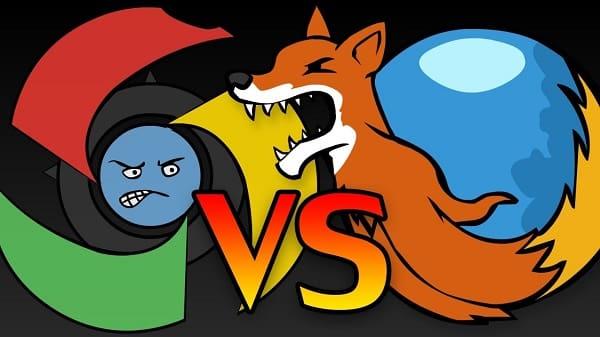 ايهما الأكثر استخداماً جوجل كروم ام فايرفوكس ؟
