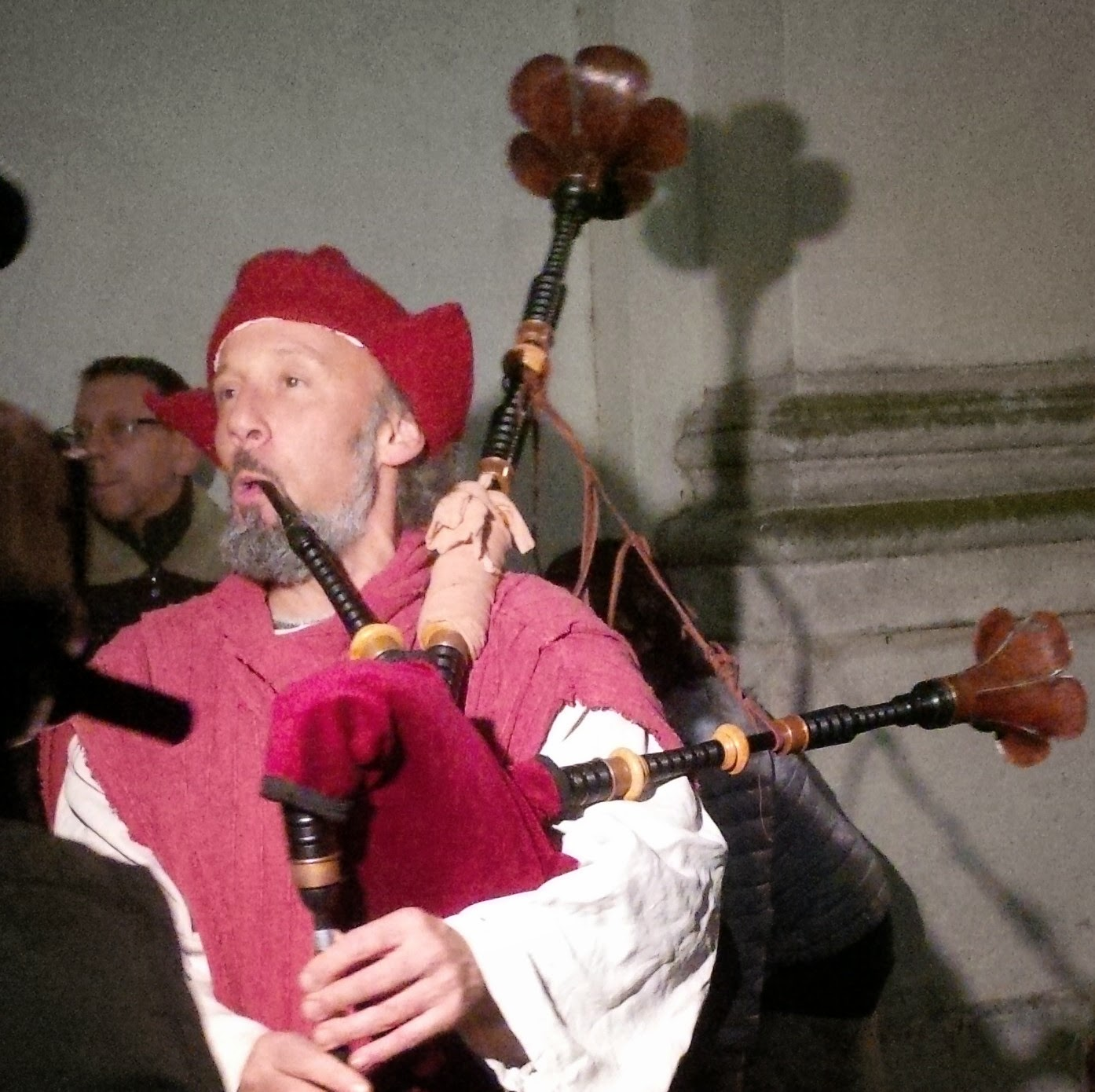 Musician and his bagpipe