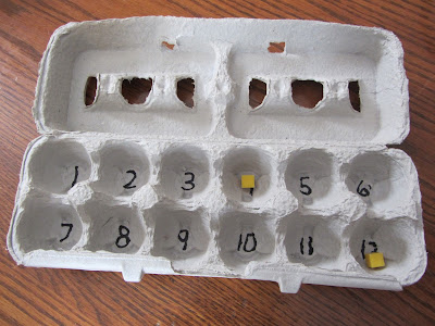 Open egg carton