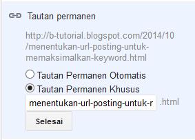 Menentukan URL Posting untuk Memaksimalkan Keyword