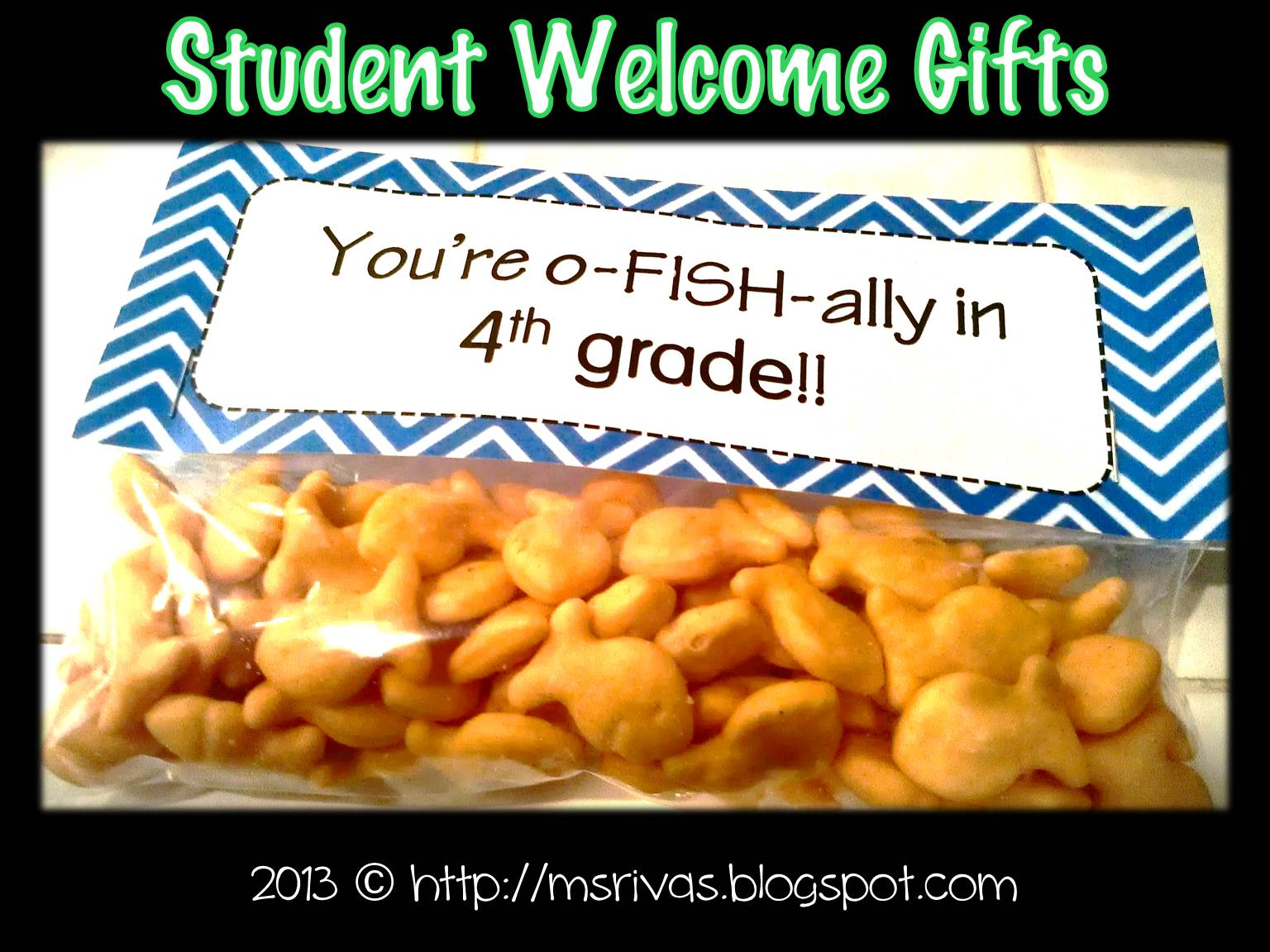 forkin4th: oFISHally the EASIEST Student Welcome Gifts