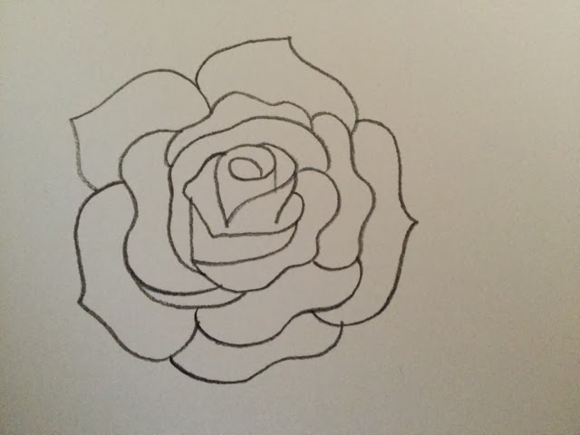 Merinal Brunda: How to draw a rose