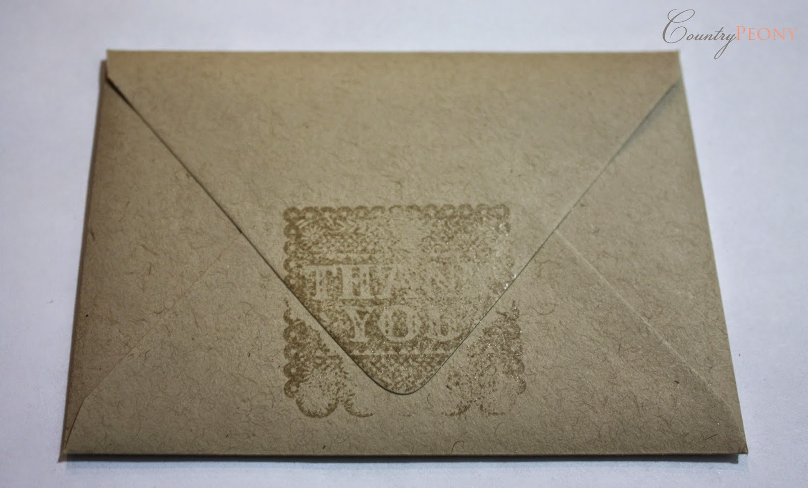 Thank you embossing stamp
