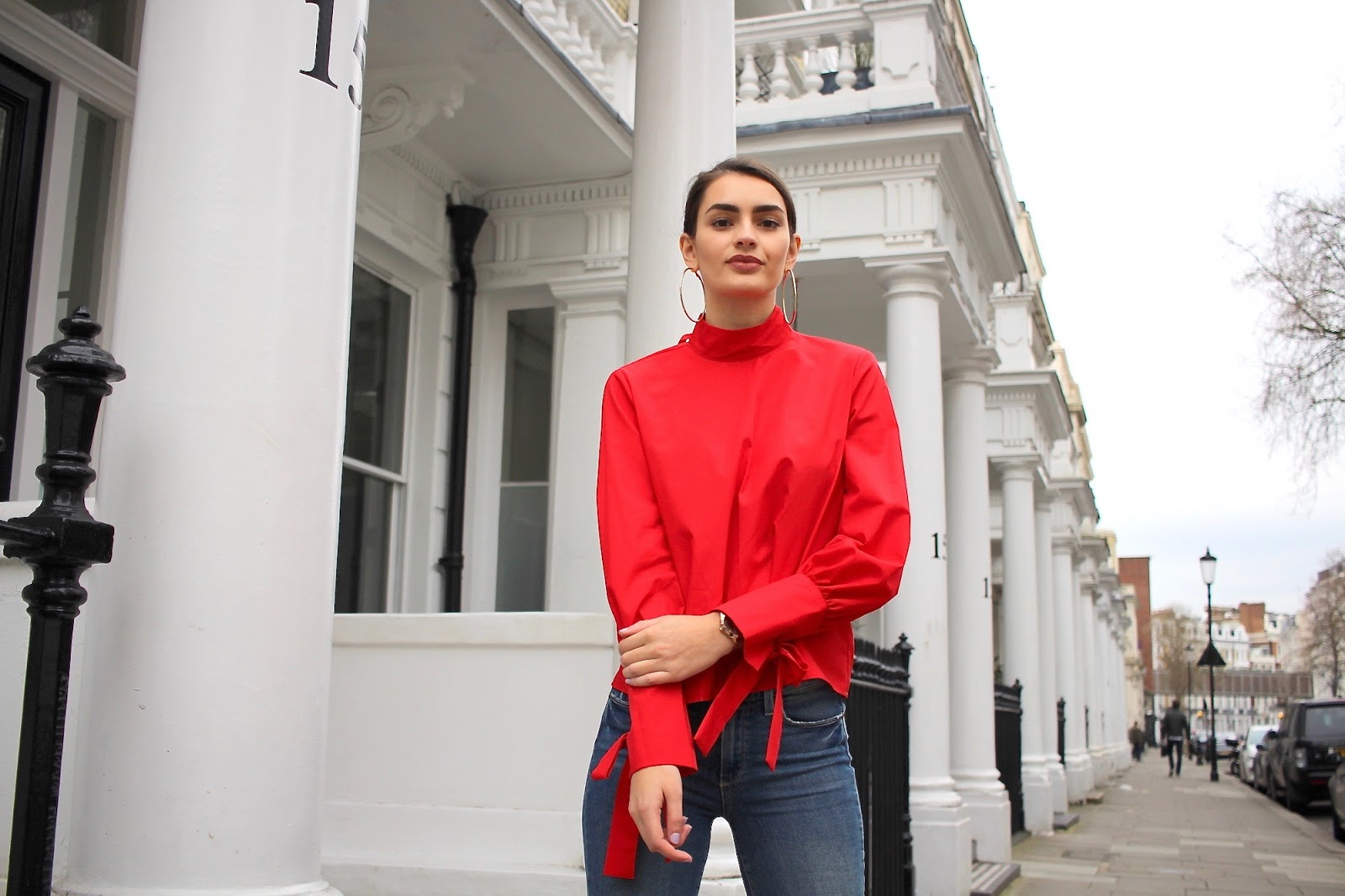 topshop red top peexo personal style blogger