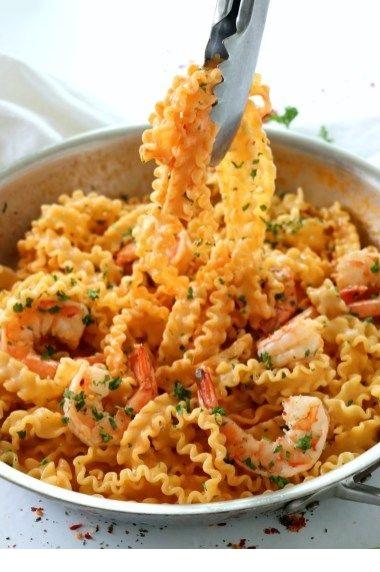 Drunken Shrimp Pasta