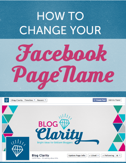 How to Change Name on Facebook Page 2017