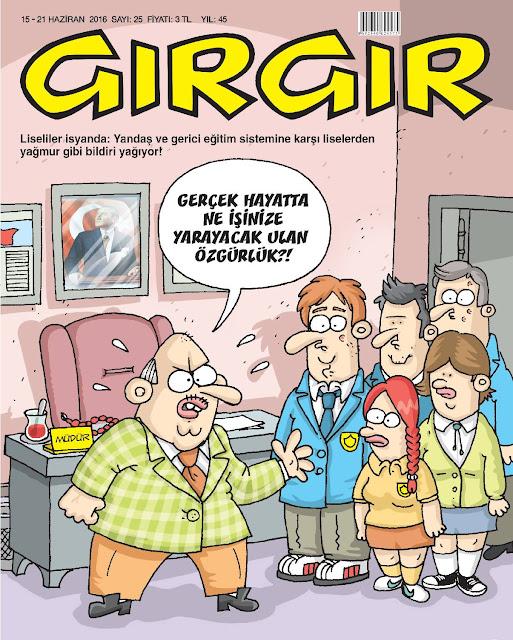 Gırgır Dergisi - 15-21 Haziran 2016 Kapak Karikatürü