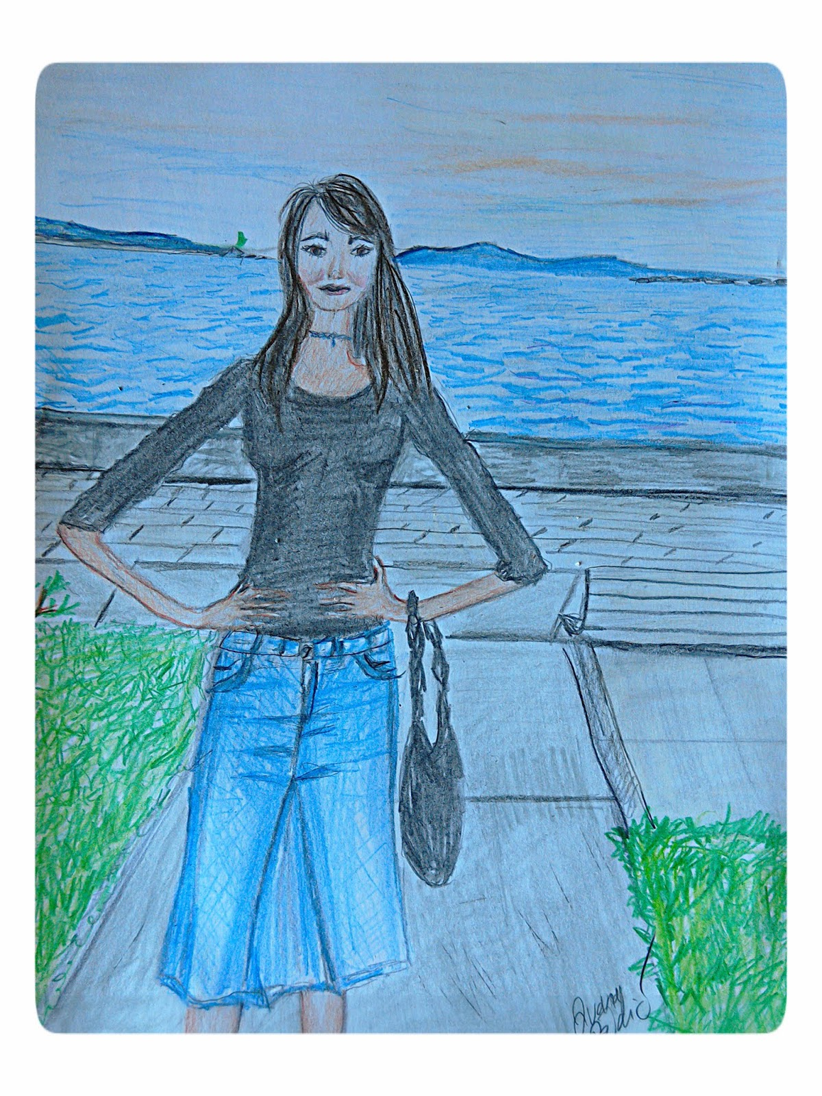 Fashion &  Location Illustration of the Day ( Split, Croatia)