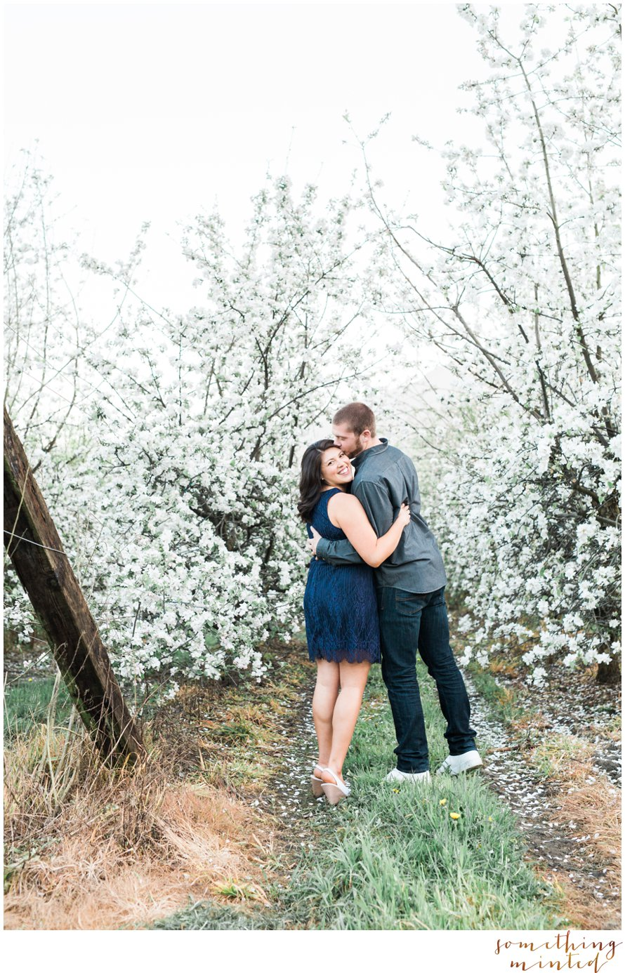 Romantic Blossom Engagement Session by Something Minted Photography