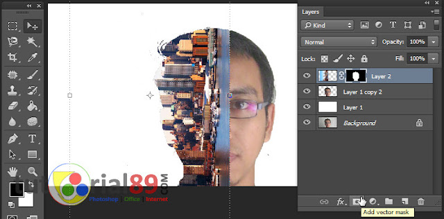 Cara membuat efek foto double exposure di photoshop