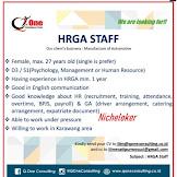 Loker Terbaru HRGA STAFF