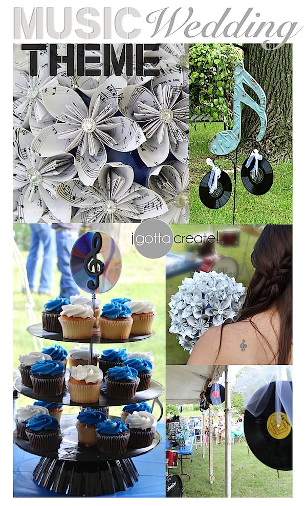 TONS of #music theme #party or #wedding ideas with links to the tutorials | Visit I Gotta Create!