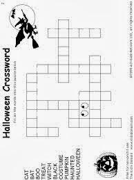 New Halloween Crossword Puzzles Printable  Easy