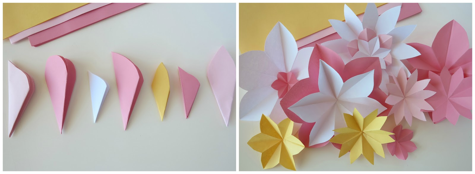 Tissue paper flowers step by step