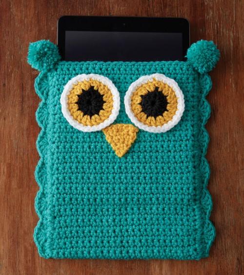 Owl Tablet Case - Free Pattern