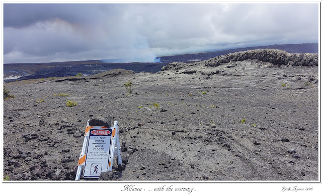 Kilauea: ... with the warning...