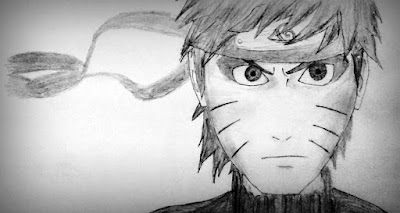 Angry Naruto Pencil Drawing