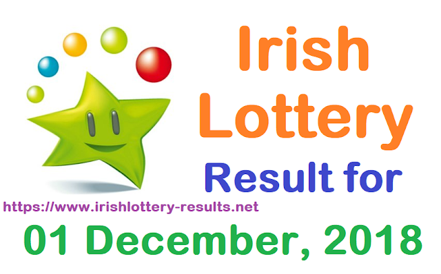 Irish Lottery Result for Saturday, 01 December 2018