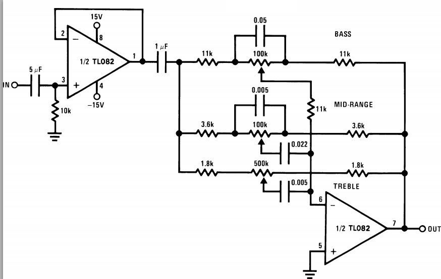 band tone control circuit