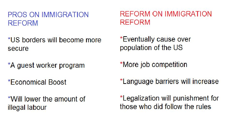 Pro immigration reform essay