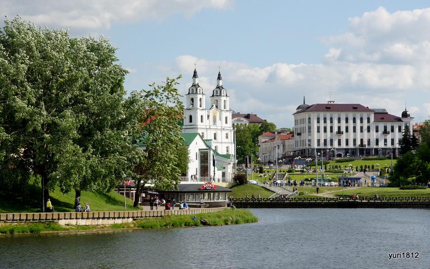 Верхний город со стороны реки Свислочь