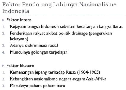 Faktor Pendorong Munculnya Gerakan Nasionalisme Di Indonesia