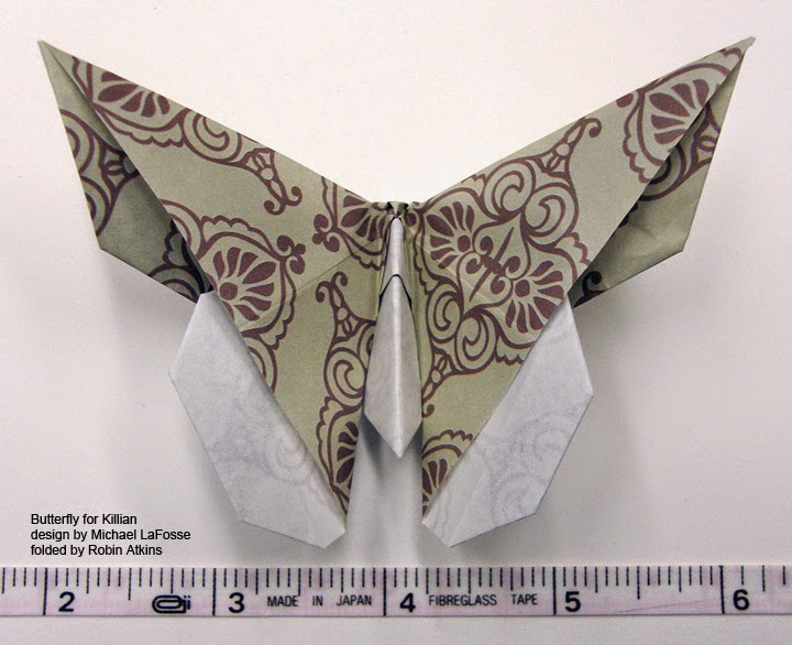 origami butterfly for Killian design by Michael LaFosse