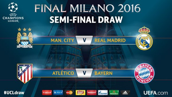 Premier League Champions Manchester City Have Been Handed A Tough Champions League Semi Final Draw As The Citizens Face Zidanes Real Madrid While Bayern