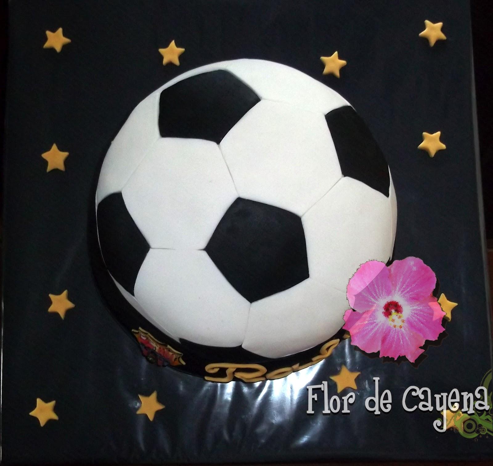 Flor De Cayena Tarta Balon De Futbol